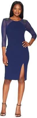 Adrianna Papell Short Crepe Dress Women's Dress