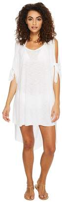 Becca by Rebecca Virtue Breezy Basics Cold Shoulder Poncho Cover-Up Women's Swimwear
