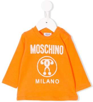 Moschino Kids logo printed sweatshirt