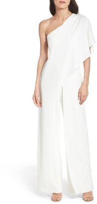 Women's Adrianna Papell One-Shoulder Jumpsuit $219 thestylecure.com