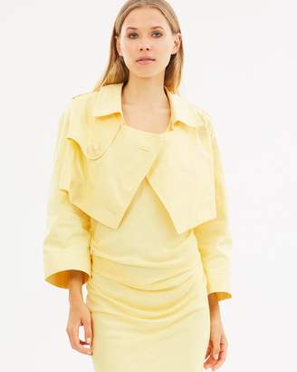 CHRISTOPHER ESBER Cropped Trench Jacket