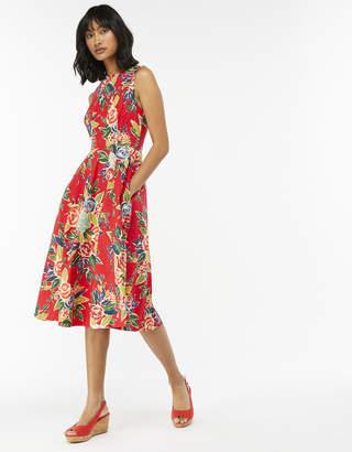 Monsoon Rosaline Print Built Up Dress