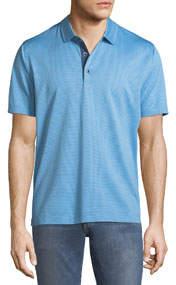 Turnell Dot-Jacquard Knit Polo Shirt