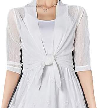 Wenko Joe JWK Women Irregular Thin See Through UV Protection Cardigan Coat  Medium 192960a55