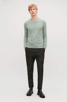 Cos STITCH-DETAILED CASHMERE JUMPER