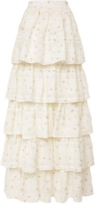 LoveShackFancy Carmen Ruffle Maxi Skirt