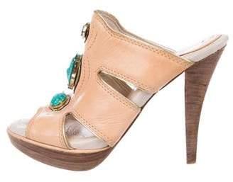House Of Harlow Embellished Slide Sandals