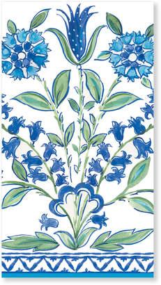 Caspari Ceramica Blue Guest Paper Napkins