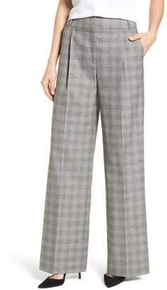 Emerson Rose Check Plaid Wide Leg Suit Pants