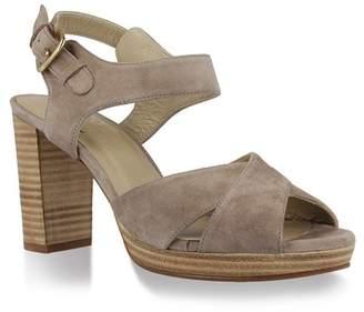 UKIES Tango Leather Ankle Strap Heel