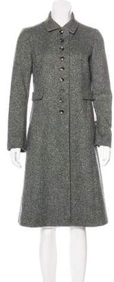 Luciano Barbera Knee-Length Button-Up Coat
