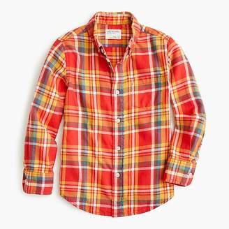 J.Crew Boys' flannel shirt in orange plaid