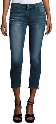 DL1961 Premium Denim Florence Instasculpt Cropped Skinny Jeans, Stranded $188 thestylecure.com