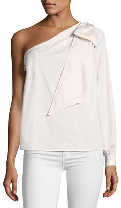 Cynthia Steffe Cece By One-Shoulder Bow Blouse