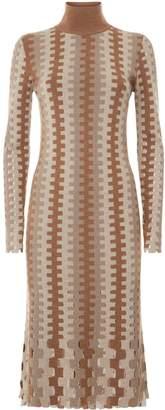 Diane von Furstenberg Turtleneck Knitted Midi Dress