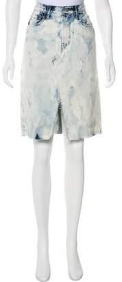 J Brand Knee-Length Denim Skirt