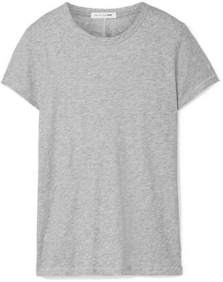 Rag & Bone The Tee Slub Pima Cotton-jersey T-shirt - Gray