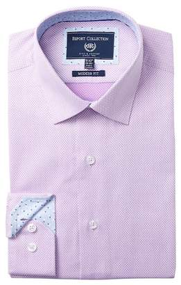 Report Collection Modern Fit Checkered Dress Shirt