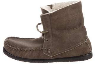 Etoile Isabel Marant Eve Shearling-Trimmed Booties