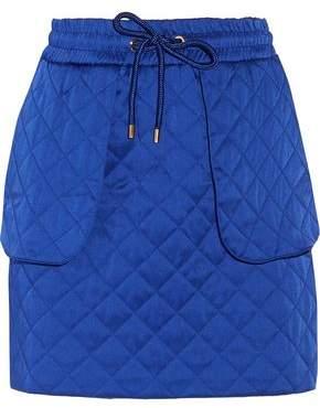 Moschino Quilted Satin Mini Skirt