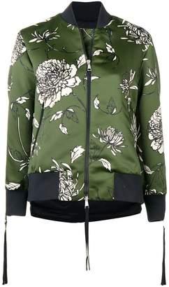 Moncler floral print bomber jacket