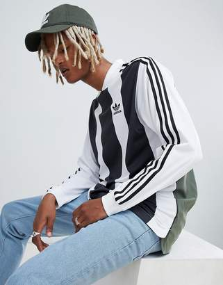 adidas B-Side Long Sleeve Jersey With Back Print In White DH5134