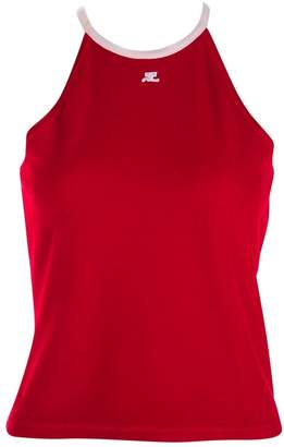 Courreges Red Cotton Top for Women