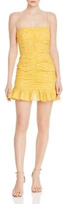 Bec & Bridge Marigold Fields Ruched Mini Dress