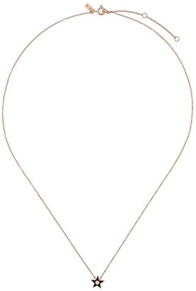 Ef Collection 14kt gold diamond star necklace