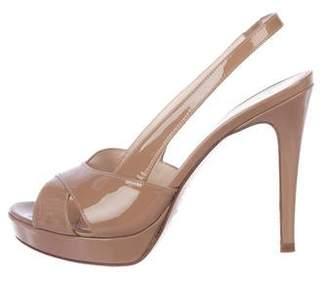 Max Mara Patent Leather Slingback Sandals