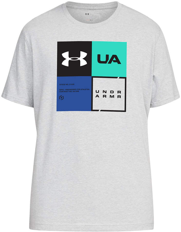 Under Armour Men's Charged Cotton Colorblocked-Logo T-Shirt