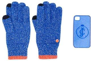 Juicy Couture glittered gloves and iPhone 4 case