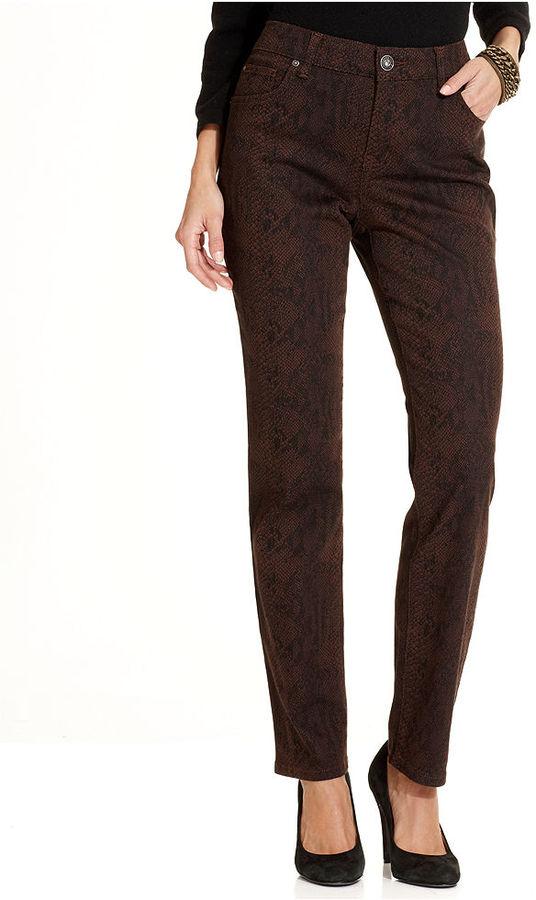 Bandolino Jeans, Mandie Straight-Leg Animal-Print