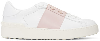 Valentino White & Pink Open Sneakers $695 thestylecure.com