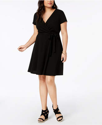 Love Squared Trendy Plus Size Faux-Wrap Dress