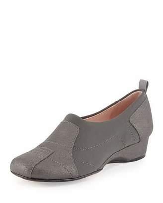 Taryn Rose Kuss Demi-Wedge Slip-On Sneaker, Black $239 thestylecure.com