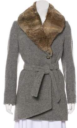 Band Of Outsiders Fur-Trimmed Virgin Wool-Blend Coat