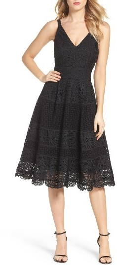 Women's Adelyn Rae Fit & Flare Midi Dress