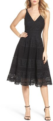 Women's Adelyn Rae Fit & Flare Midi Dress $128 thestylecure.com