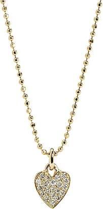 Jennifer Meyer Women's Pavé Heart Charm Necklace - Gold