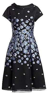 Teri Jon by Rickie Freeman Women's Cap Sleeve Floral Cocktail Dress