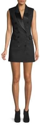 Ronny Kobo Double-Breasted Mini Sheath Dress