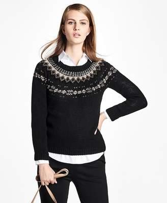 Wool Fair Isle Crewneck Sweater $428 thestylecure.com