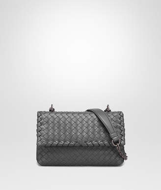 Bottega Veneta LIGHT GRAY INTRECCIATO NAPPA BABY OLIMPIA BAG