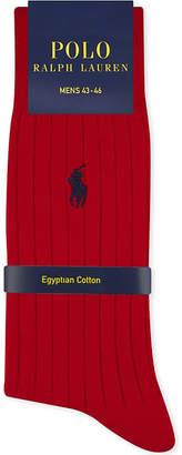 Polo Ralph Lauren Pony ribbed Egyptian cotton socks