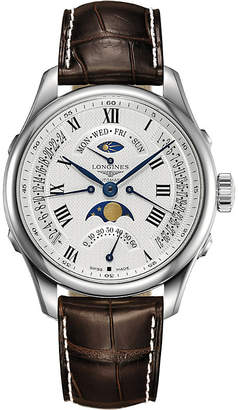 Longines L2.128.5.99.7 Master stainless steel moon-phase watch