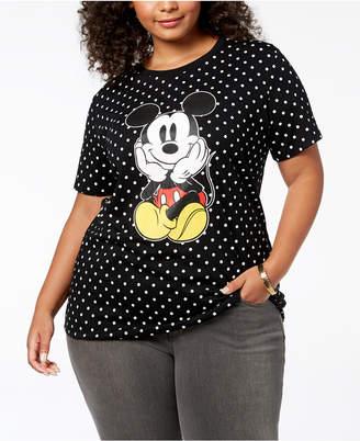 Disney Plus Size Polka Dot Mickey Mouse T-Shirt