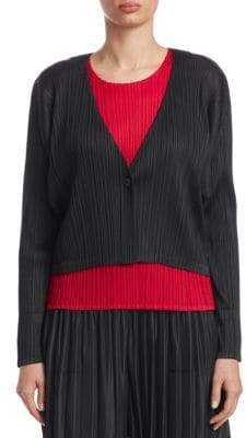 Pleats Please Issey Miyake Textured Cropped Jacket
