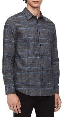 Calvin Klein Glen Plaid Flannel Button-Down Shirt