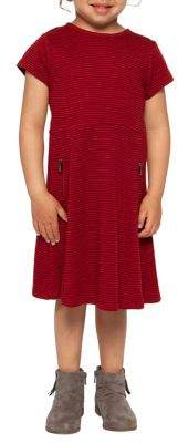 Dex Little Girl's Striped Ponte Dress